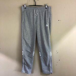Adidas Sweatpants w/Triple Stripes Zip Leg Accent